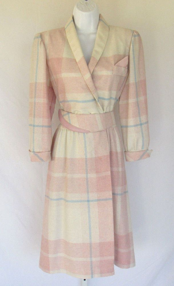 VINTAGE 1950s 60s WOOL BLEND DRESS BELT MAUVE CREAM BLUE SUBTLE TARTAN PATTERN | Clothing, Shoes & Accessories, Vintage, Women's Vintage Clothing | eBay!