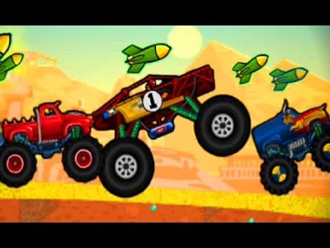 mad truck challenge gameplay monster trucks racing car game cartoon for