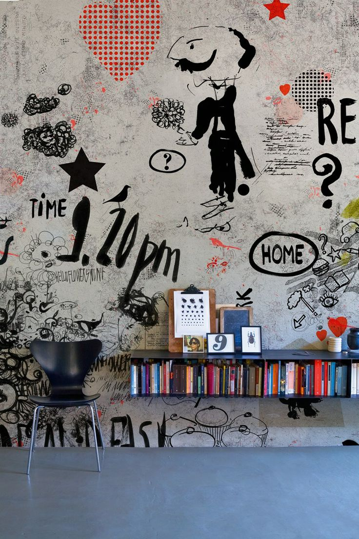 Room wall graffiti - Love This Wall Would Be A Great Wallpaper Interior Interior Design Design Design Ideas Decorating Before And After