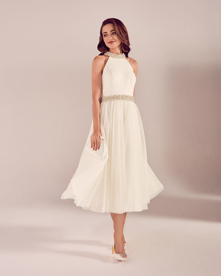 Embellished tulle bridal dress - White | SS17 Tie The Knot | Ted Baker UK