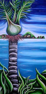 Nikau Palm & Poor Nights - Robyn Lamont NZ Artist