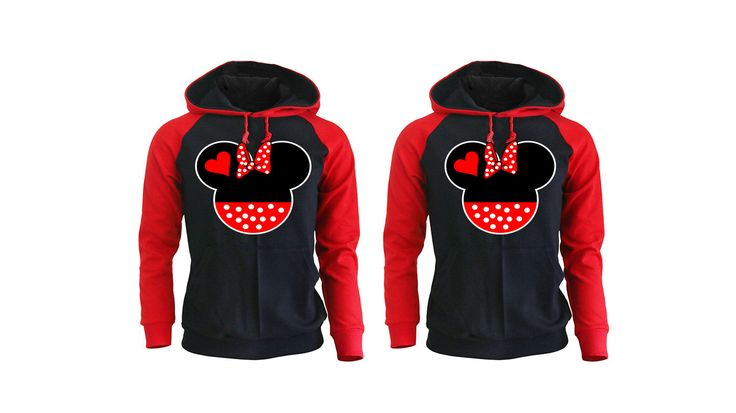 Mickey and Minnie Head Couple Raglan Hoodies Couple Clothing Matching Clothes Gifts for Couples Pärchen Look Matching Couple Cute Disney by Wainaola on Etsy https://www.etsy.com/listing/482059958/mickey-and-minnie-head-couple-raglan