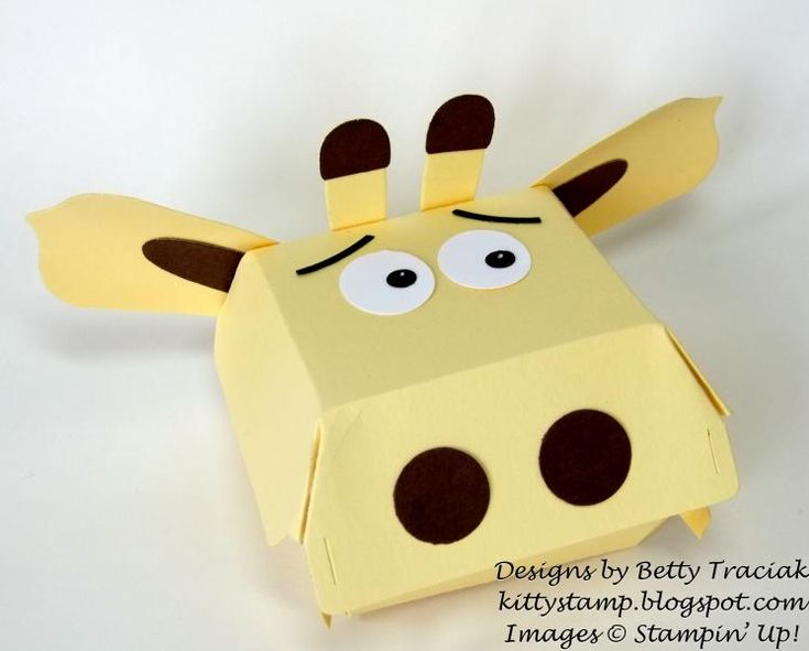 More Hamburger Box Critters - Giraffe by kittystamp - Cards and Paper Crafts at Splitcoaststampers