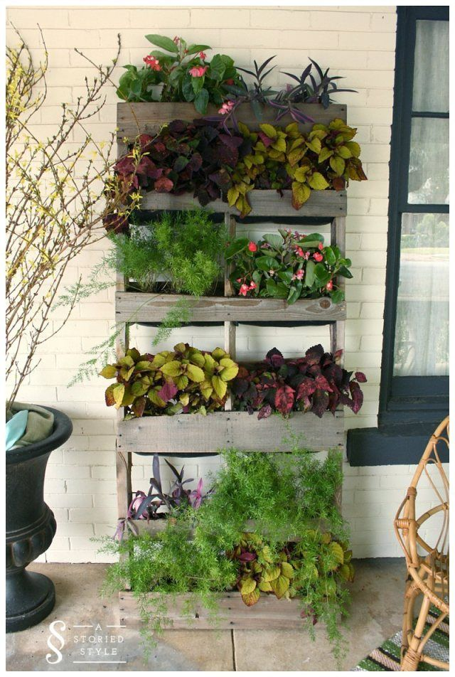 Using pallets for a garden pallet vertical planter for How to make a vertical garden using pallets