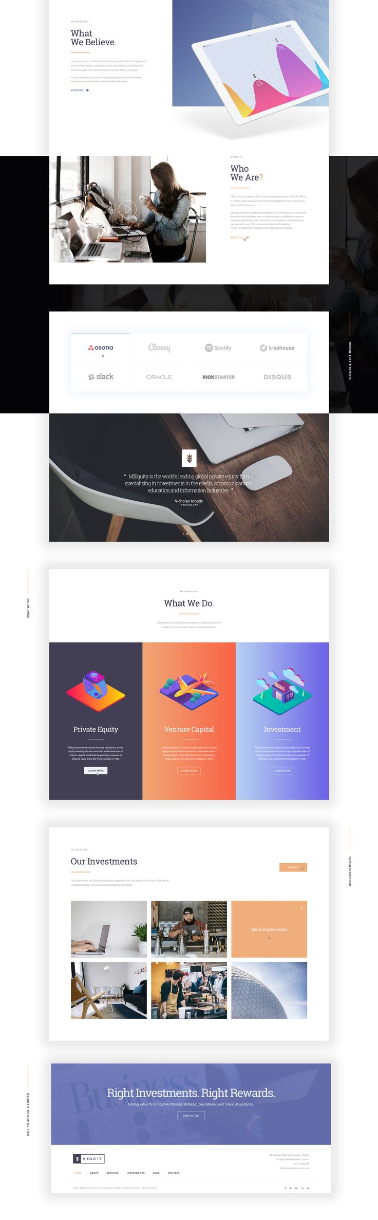 MIEQUITY - Free Website PSD Template on Behance