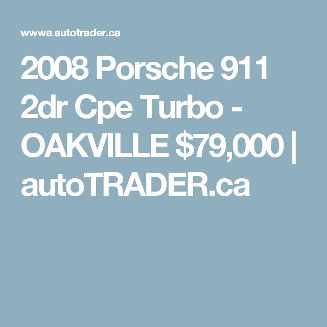 2008 Porsche 911 2dr Cpe Turbo - OAKVILLE $79,000 | autoTRADER.ca