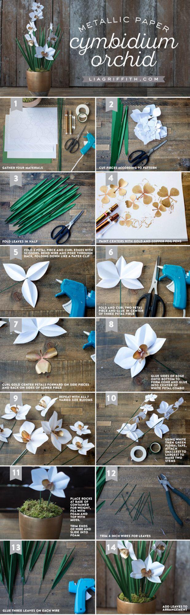 Paper Cymbidium Orchid Plant