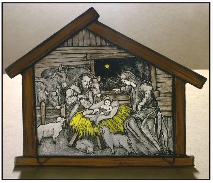 # www.polandhandmade.pl # witraże # szopkabożonarodzeniowa #