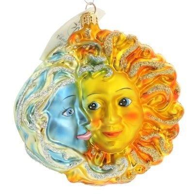 christopher radko ornaments   New Christopher Radko Rare Brother Sun Sister Moon Celestial Christmas ...