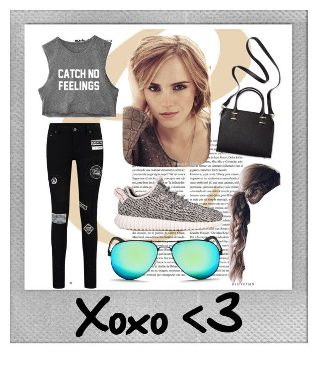 """""""set #26 (xoxo) by uberwine"""" by uberwine on Polyvore featuring Polaroid, Emma Watson, adidas, Ray-Ban, Humble Chic, women's clothing, women, female, woman and misses"""