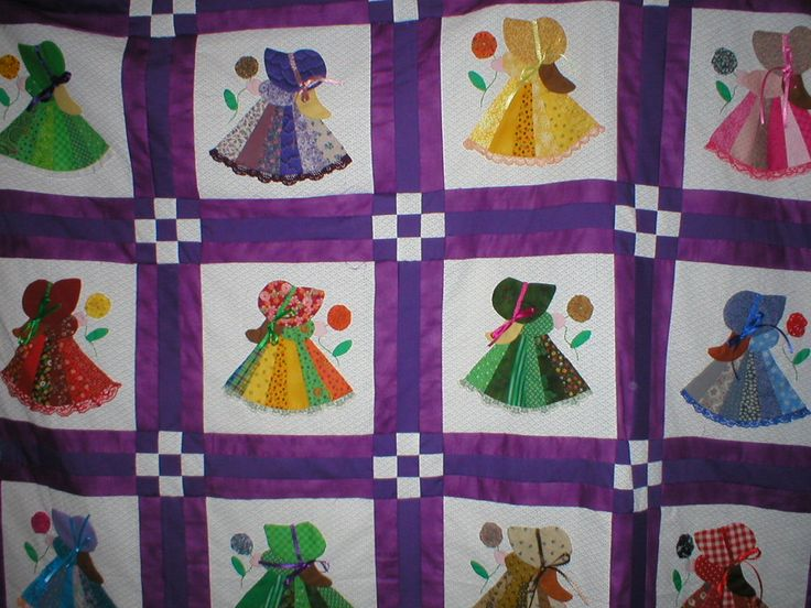 Free Sunbonnet Sue Quilt Pattern | Quilting with a friend keeps me in stitches.