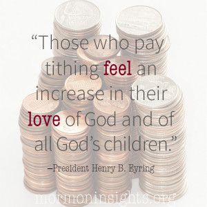 As we faithfully pay tithing, it becomes not only a habit but a meaningful ritual of service to the Lord.