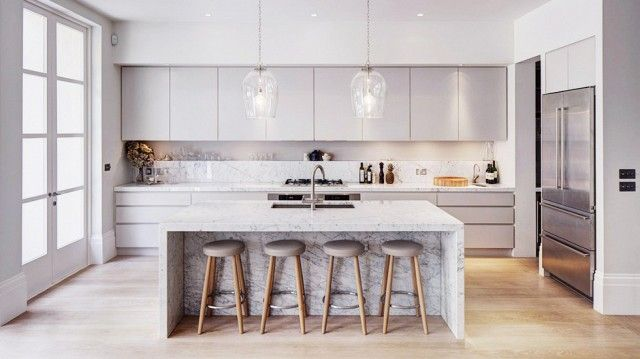 Kitchen | grey | marble