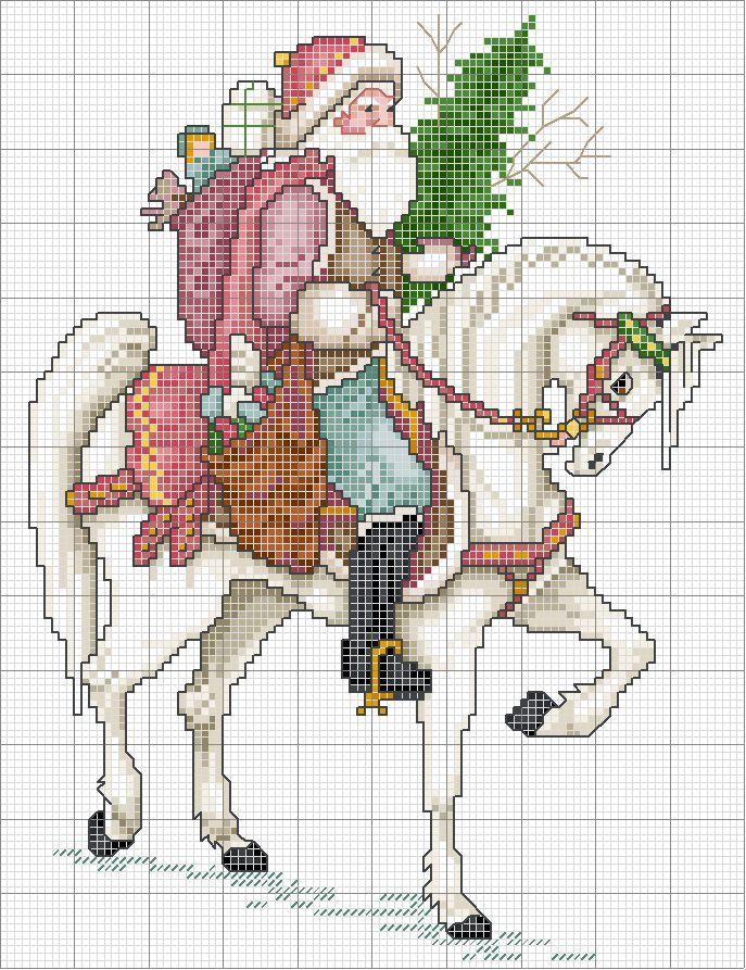 patrones de punto de cruz de santa diversos | Hobby empleos femeninos - Bordado - crochet - tejer