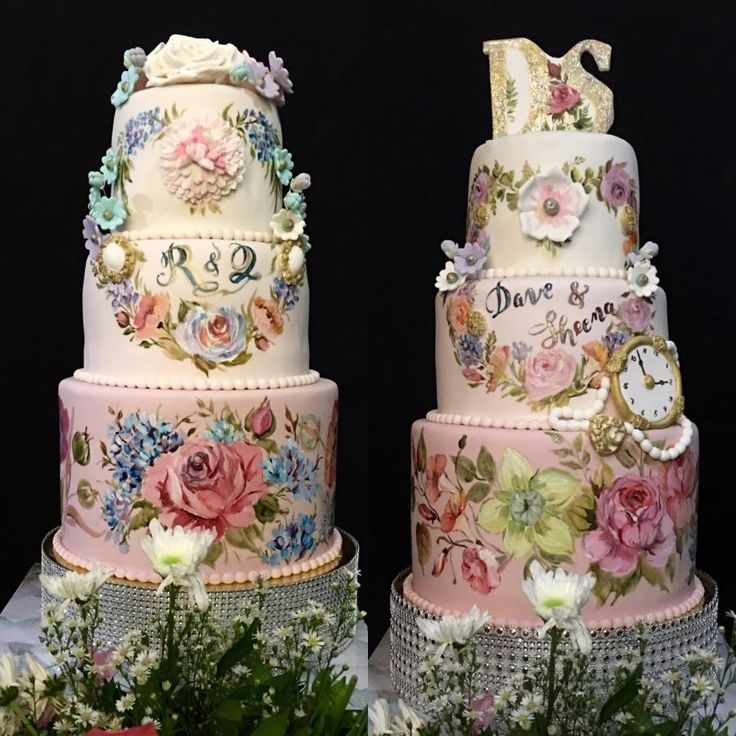 Time to Blush by Mucchio di Bella - http://cakesdecor.com/cakes/238669-time-to-blush