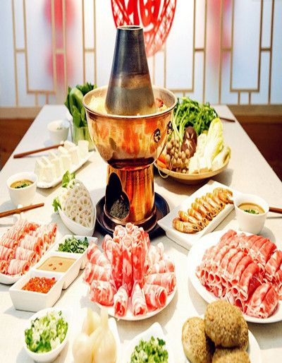 Halal Chinese food - Mongolian Hotpot  a dish that's history dates back over 1,000 years, is as much about the enjoyment of the cooking as it is the taste. Enjoy Halal food,halal meat in Chinese Halal Restaurants with muslimtourtravel.com in China.