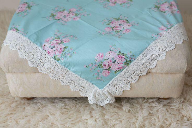 Blue Artisan Floral Wrap