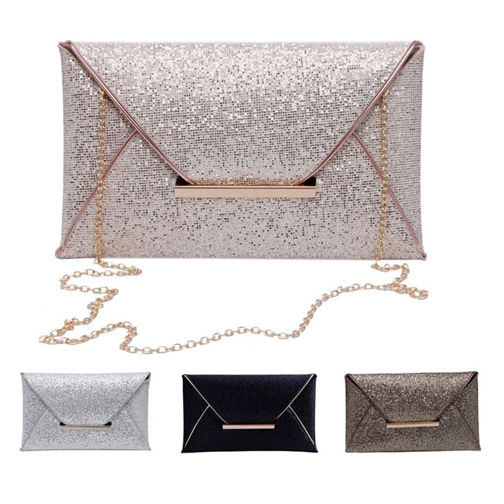 New Ladies 1Pc Glitter Sequins Special Occasion Clutch Purse //Price: $13.95 & FREE Shipping //     #style