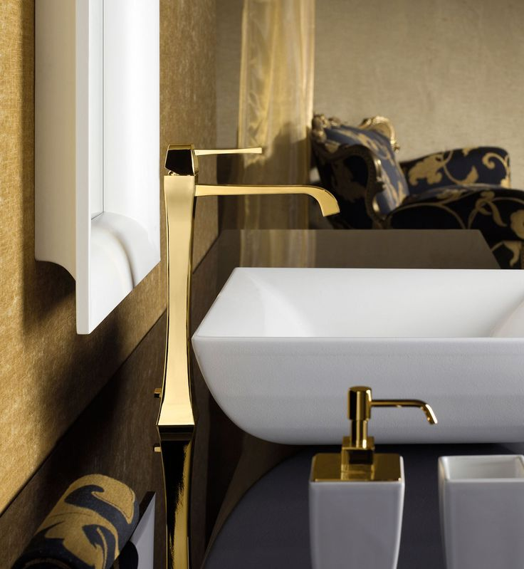 Pic Of Gessi Mimi bathroom faucet in Gold finish