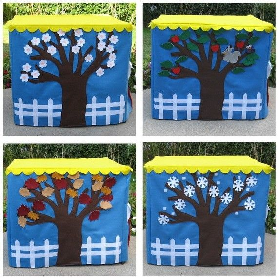 Our Four Seasons Card Table Playhouse, Personalized,