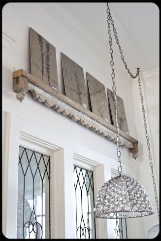 Like the use of old Victorian molding.  From The Old Painted Cottage Unique Goods and Curious Finds