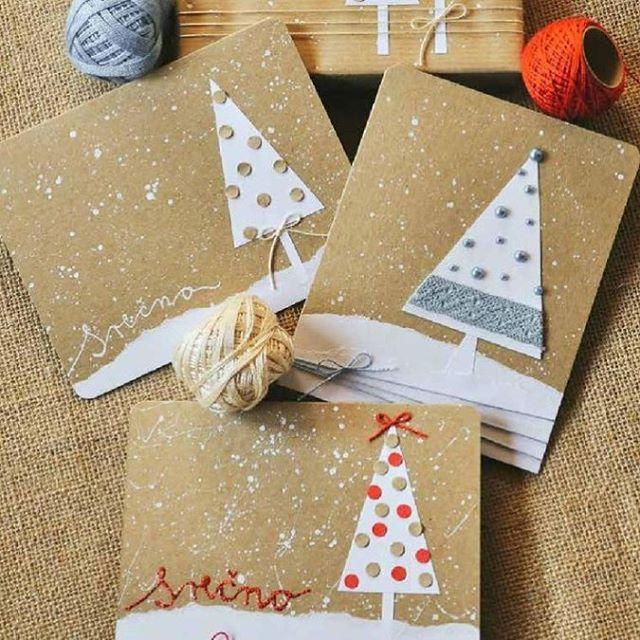 """Таким способом можно украсит конверт или открытку. Все предельно просто А крафт конверты можно приобрести на """"ярмарке мастеров"""" ( сайт есть такой) ☺️☺️☺️ #новогоднийдекор #открытки #открытка #новыйгод #рождество #чемзанятьребенкадома #чемзанятьребенка #очумелыемамочки"""