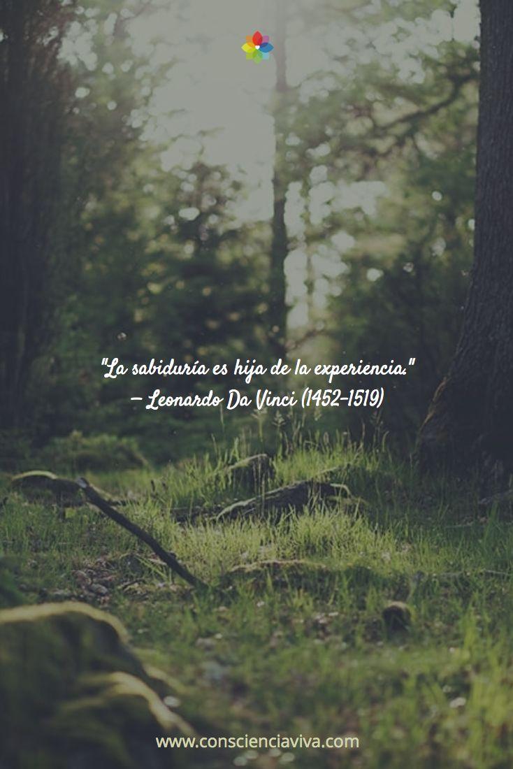 """""""La sabiduría es hija de la experiencia."""" — Leonardo Da Vinci (1452-1519)"""