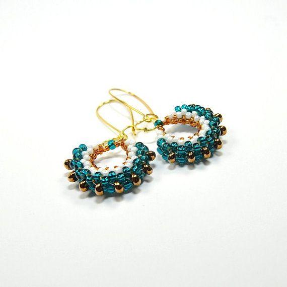 Seed bead earrings. Beaded earrings. Seed bead by ArtStyleBizu