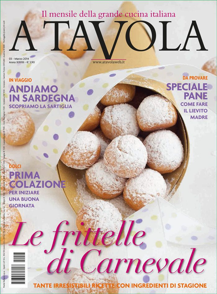 Here we go again!!! another wonderful A Tavola is out! #carnival in #Italy! #newsstand #March #frittelle €3,90