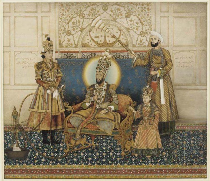 Ghulam_Ali_Khan,_Bahadur_Shah_II_enthroned_with_Mirza_Fakhruddin_1837–38_Arthur_M._Sackler_Gallery,_Smithsonian_Institution,_Washington.jpg (814×700)