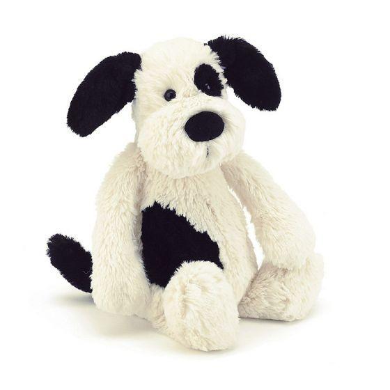 Jellycat Puppy - Bashful Black & Cream - Medium