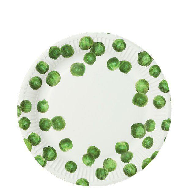 Botanical Sprout Plates 23cm Buffet Set Up Buffet Set Party Supplies