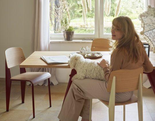 Vitra EM Table Prouve + Standard Chair Prouvé