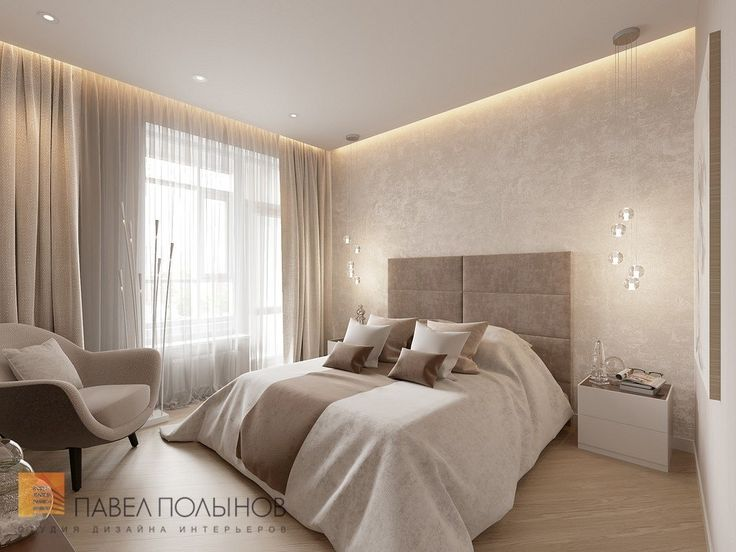 Фото спальня из проекта «Интерьер однокомнатной квартиры в современном стиле»