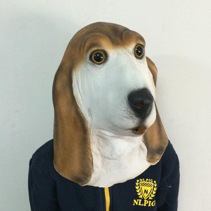 Ну вечеринку маски косплей хэллоуин кобольдов латексные маски анфас гончая взрослых собак ужасы страшно маскарадные маски H-062