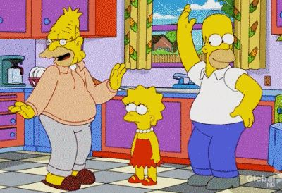 dance simpsons no We Heart It. http://weheartit.com/entry/66520620/via/sentimentaldream