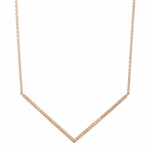 Sachi Micro Curve Necklace in Metallic Gold