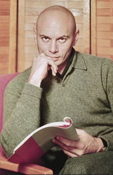 Yul Brynner reads=  FOR ME, HE STILL IS THE MOST BEAUTIFUL MAN THAT EXISTED!! <3 you Yul!