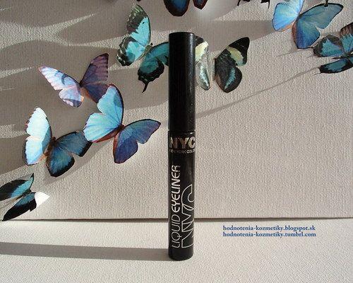 Hodnotenia kozmetiky: NYC - Liquid Eyeliner - tekutá očná linka