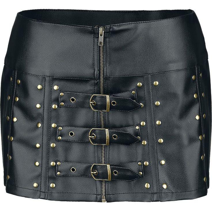 #biker skirt #rock #fashion #dark #gothic #falda #moda en #empspain