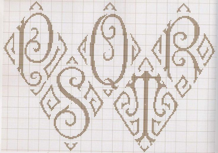Best cross stitch lettering images on pinterest