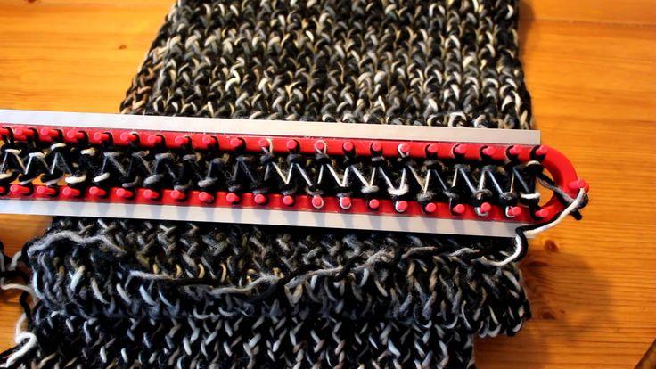 Schal mit Strickrahmen stricken Teil 13/13: Verschiedene Wollen