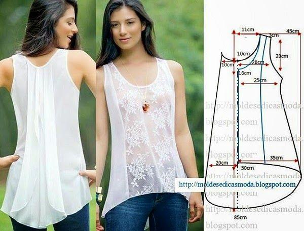 Este modelo de blusa branca feminina com renda tem sido muito solicitado por parte de alguns seguidores. Por essa razão hoje vou publicar o passo a...