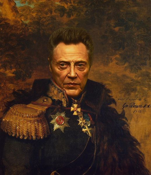 Christopher Walken - replaceface Art Print by Replaceface | Society6