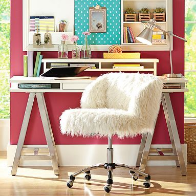 Customize It Storage A Frame Desk Simply White With Galvi Base