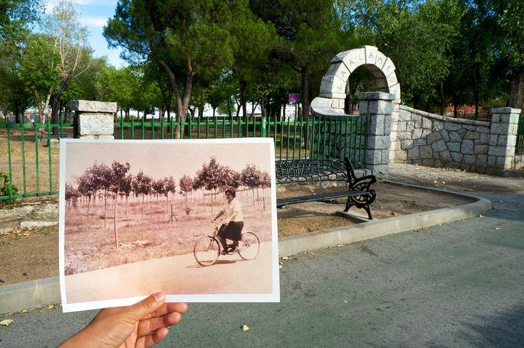 Memorias del paisaje V. Ciclista en la Alameda. Belén Carrillo Calvo