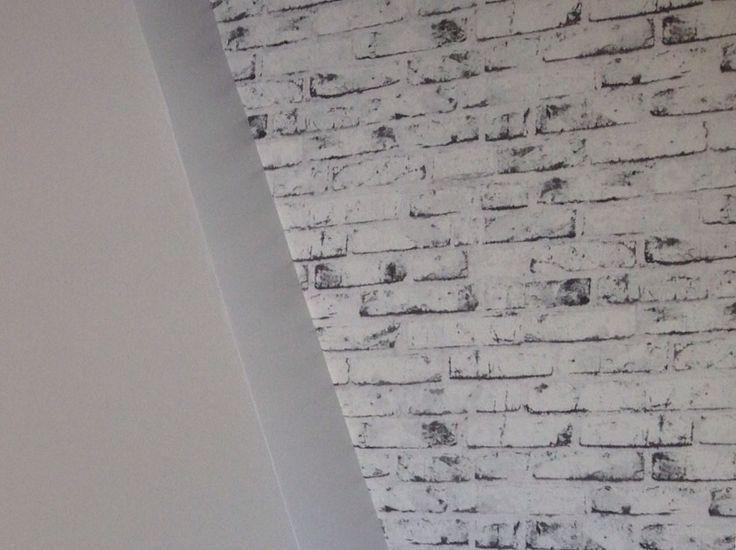 25 b sta papier peint imitation brique id erna p pinterest papier peint b - Mur imitation brique blanche ...