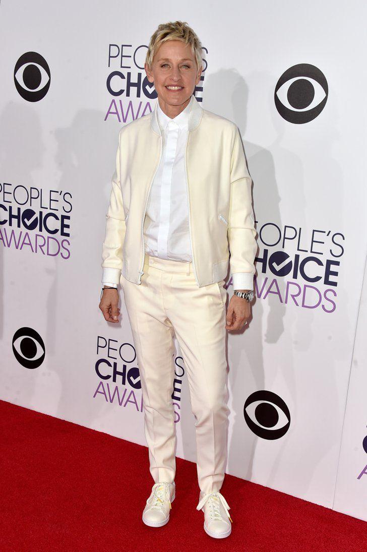Pin for Later: Es muss nicht immer ein Kleid sein Ellen DeGeneres