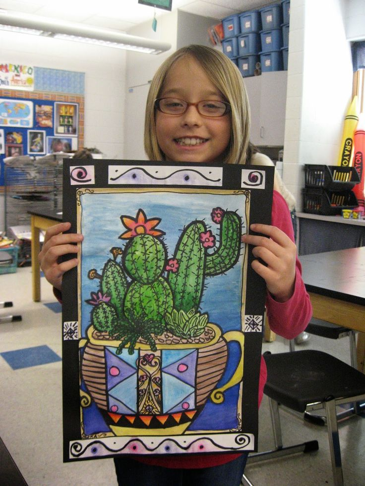 Jamestown Elementary Art Blog: 5th Grade Mexican cacti!