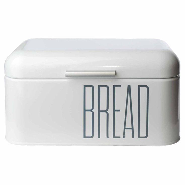 Brotkasten Brotbox Metall Bambus Brotbehälter mit Deckel Bambusdeckel Brot Aufbewahrung Box Kiste (Metall-Weiß): Amazon.de: Küche & Haushalt